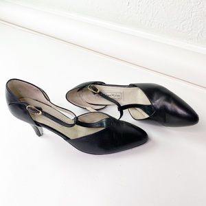 Vintage Werner Kern Black Leather Dancing Heels